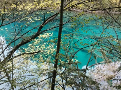 Jiuzhaigou blue lakes