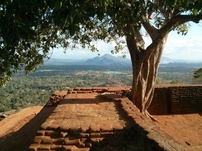 View from top of Sigiriya Rock Sri Lanka
